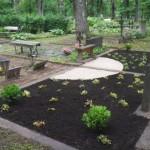 Taimedega üheks kujundatud platsid